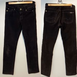 7 for all Mankind brown fitted straight leg pants